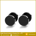316L Chirurgenstahl Mens Womens Black Gold Überzogene Ohrstecker Fake Plugs Tunnel