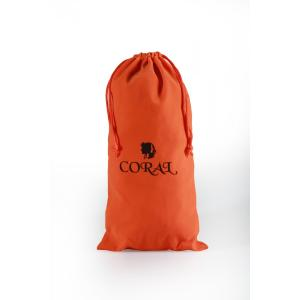 Customized Orange Velvet bag with black logo