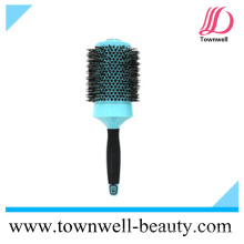 Escova de cabelo redonda profissional de nylon e boar cerda