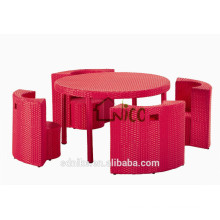 2014 hot sell PE rattan childrens table and chairs