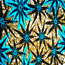 Tecidos de poliéster impressos com cera africana anti-rugas e suaves