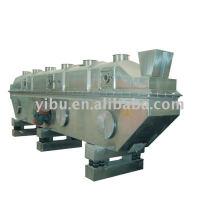 Secador Rectilíneo Vibratório-Fluidizado usado em pedaço de rabanete