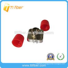 Atténuateur à fibre optique fixe simplex FC monomode simple