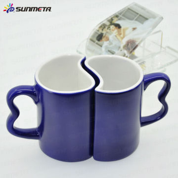 sublimation color changing couple coffee mug wholsales