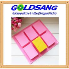 6 Rectangle Silicone Handmake Soap Mold &Cake Mold DIY Mould