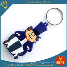 Supply Feshion Cute Cartoon Rubber PVC Keychain for Gift