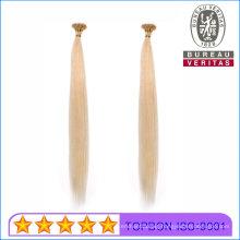 Human Hair Virgin Hair Remy Hair 613# Blond Color 18inch I Tip Hair Extension