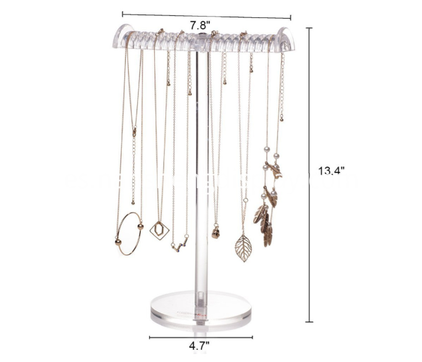 Acrylic T-Bar Tall Jewelry Display Stand