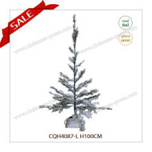 Vente en gros de neige décorative PE Artificial Christmas Trees with Snow