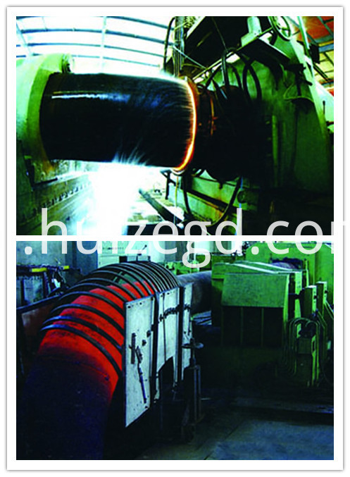 hot reduction steel pipe bend