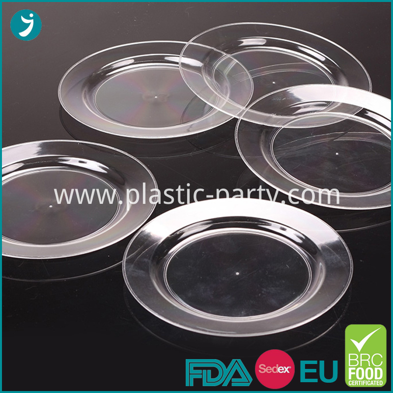 Clear Wholesale Plastic Plates Disposable
