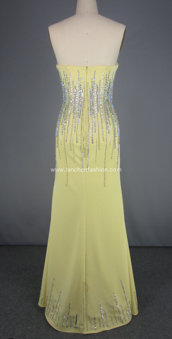 Strapless Beading Ball Gown Prom Dress