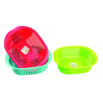 Plastic Fruit And Vegetable Basket Round Conor