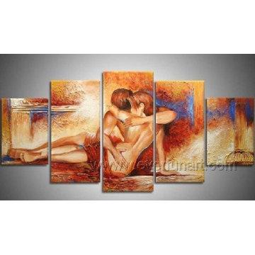 Figures Peinture à l'huile sur toile pour décoration (FI-023)