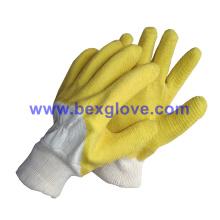 Tc Twill Liner, Tc Knit Wrist, Latex Coating, Ripple Styled Crinkle Finish Glove