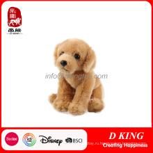 Золотая собака плюшевые чучела животных игрушки для детей