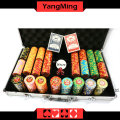 Jogo da microplaqueta do póquer de Texas Clay (YM-TZPK001)