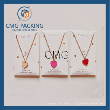Charm Necklace Display Card Samll Box for Necklace (CMG-059)