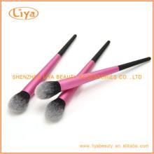 Belleza cara cepillo cosmético con muestra disponible redondo