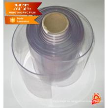Cortina pvc clara flexible acanalada de la anchura de 200m m, tira de la cortina del pvc