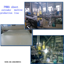Línea de extrusión de láminas transparente PMMA / Máquina de extrusoras de láminas PMMA