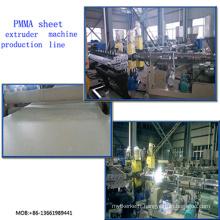 Ligne transparente d'extrusion de feuille de PMMA / machine d'extrudeuse de feuille de PMMA