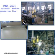 Máquina de extrusão de folha de extrusão de folha de PMMA / PMMA folha extrusora