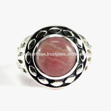 Schöne Rhodochrosit Edelstein 925 Sterling Silber Ring Schmuck