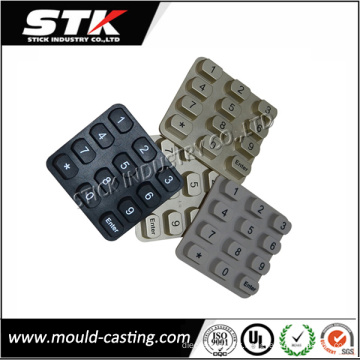 Pièces faites sur commande de moulage en caoutchouc de silicone d'OEM pour des composants électroniques