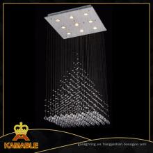 Populares colgante moderna lámpara de cristal de techo de araña (66836--9)
