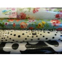 100% algodão impresso tecido revestido PVC para tela de pano de mesa
