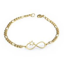Hochglanzpoliert Charm Armband Edelstahl Infinity Armband