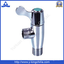 Polished Brass Angle Valve with Zinc Handle (YD-5025)