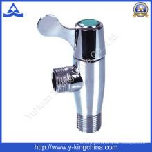 Válvula de ángulo de latón pulido con mango de zinc (YD-5025)