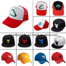 Иди Аниме Эш Кетчум Логотип Бейсбол Шляпа Вышивка