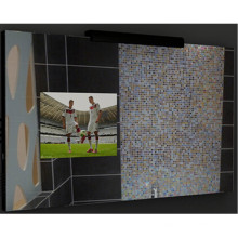 Зеркало в ванной с свет и телевизор