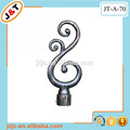 length 6m copper curtain rod( with decorative metal leaf finial)