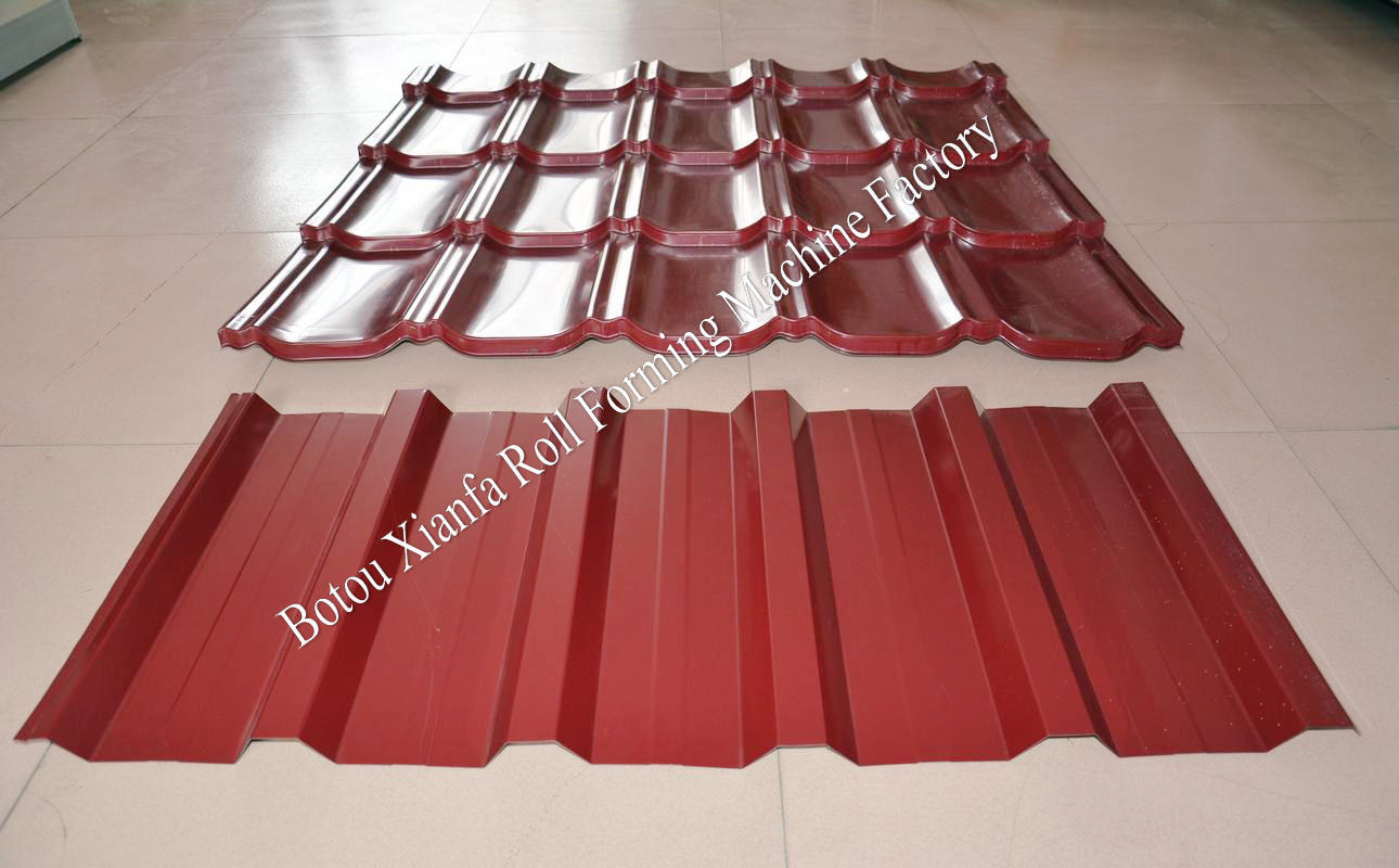 glazed tile roofing machine