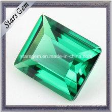 Synthetischer grüner Smaragdloser Nano Spinellstein