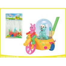 Plastic Push Pull Toys Happy Cart Toys