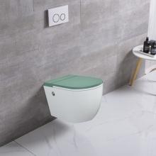 Европейский круглый керамический безбаковый туалет круглой формы
