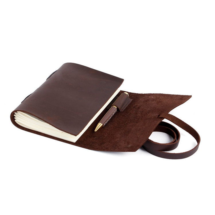Vintage Wholesale Genuine Leather Cover Paper Notebook