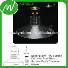 Taza de succión de fácil extracción de 42 mm con tuercas de tuercas