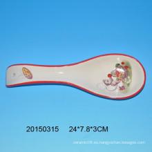 Resto de cuchara de cerámica con diseño de mono para cocina decro