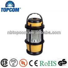 Plástico 16 lanterna de acampamento conduzida