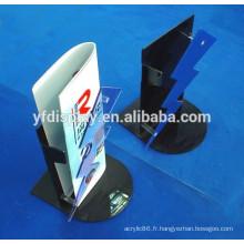 Support d'affichage réglable acrylique de brochure de plancher-support
