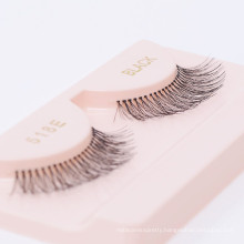 100% Black Human Hair Strip False Eyelashes OEM false eyelash packaging box