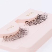 100% Black Human Hair Strip False Eyelashes OEM false eyelash packaging box