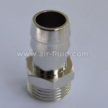 Cixi Air-Fluid Brass Hosetail  Connector. BSP Parallel Thread, 60o Coned Seat x Hose Tail,