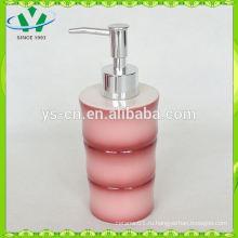 Красный бамбук керамический лосьон диспенсер для ванной набор, аксессуары для ванной комнаты